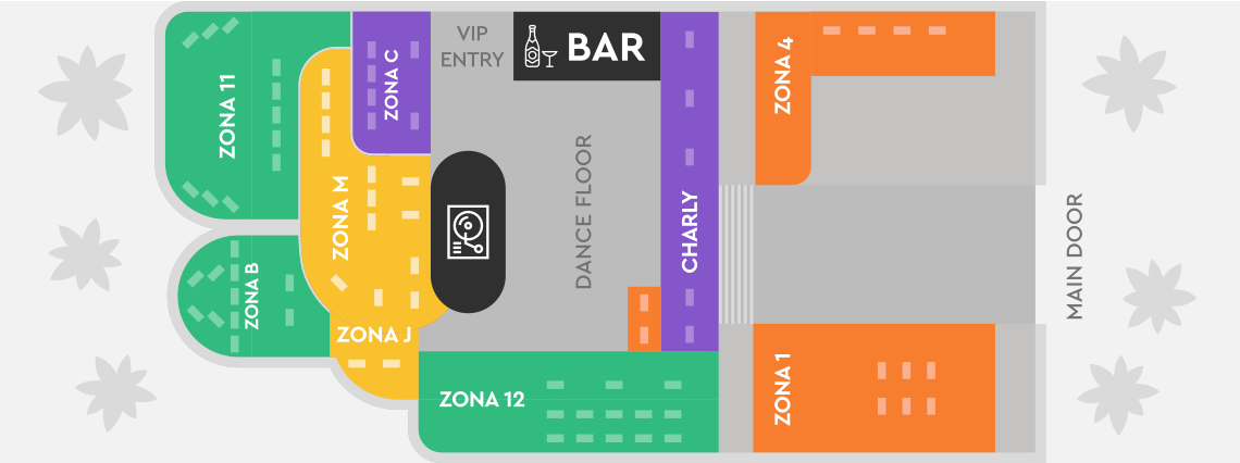 Pacha Ibiza tables map